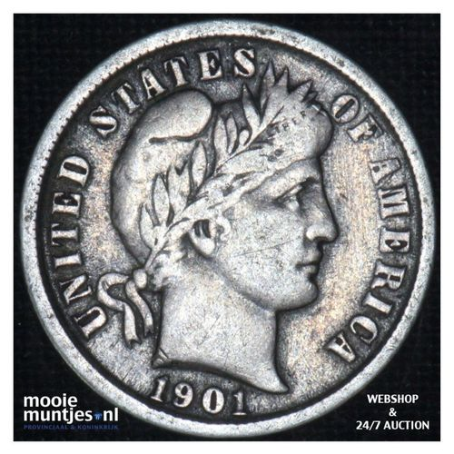 dime - barber - - United States of America 1901 (KM 113) (kant A)