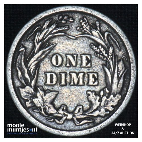 dime - barber - - United States of America 1901 (KM 113) (kant B)