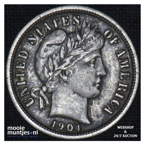 dime - barber - - United States of America 1904 (KM 113) (kant A)