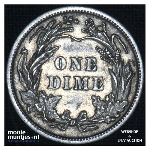 dime - barber - - United States of America 1904 (KM 113) (kant B)