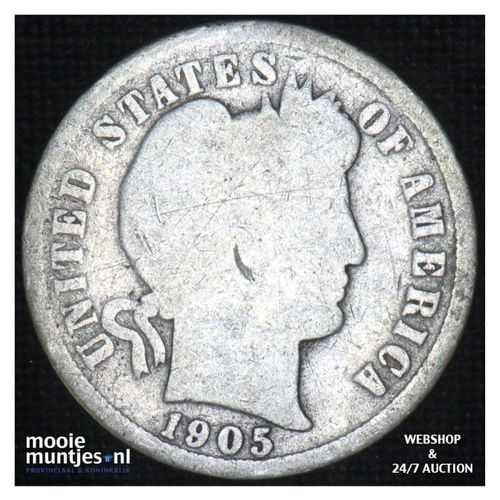 dime - barber - - United States of America 1905 S (KM 113) (kant A)