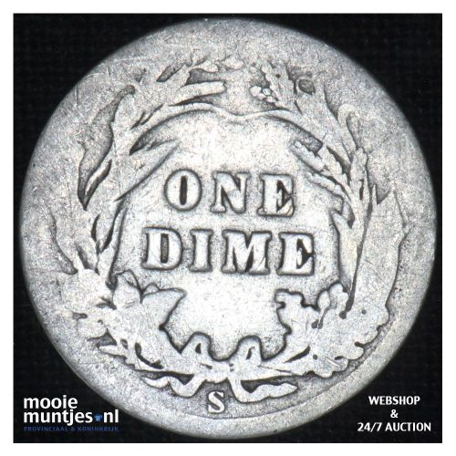 dime - barber - - United States of America 1905 S (KM 113) (kant B)