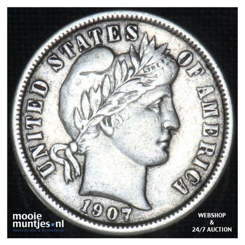 dime - barber - - United States of America 1907 (KM 113) (kant A)