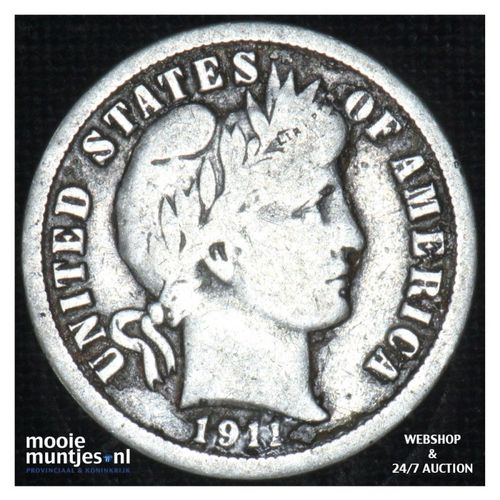 dime - barber - - United States of America 1911 (KM 113) (kant A)
