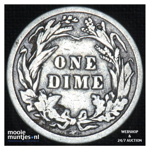 dime - barber - - United States of America 1911 (KM 113) (kant B)