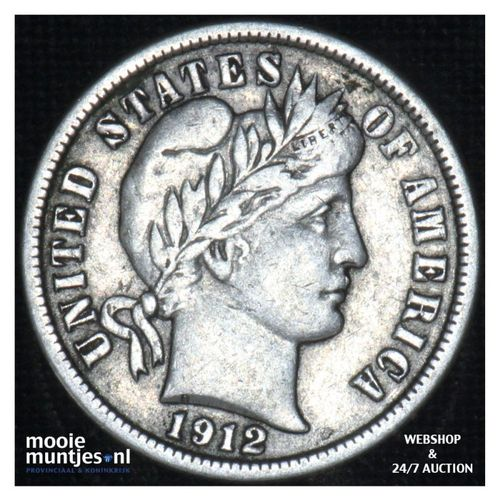 dime - barber - - United States of America 1912 (KM 113) (kant A)