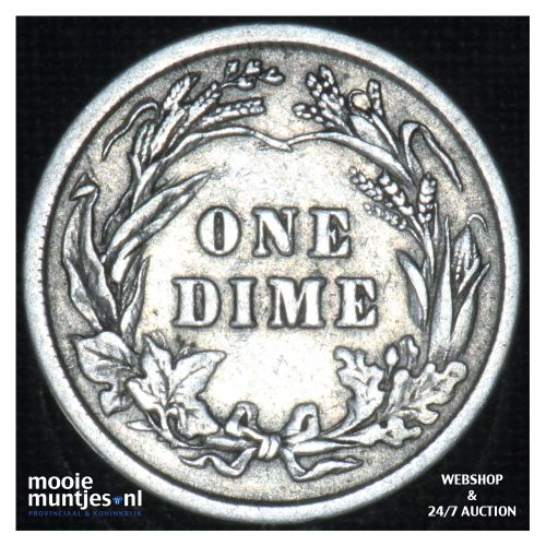 dime - barber - - United States of America 1912 (KM 113) (kant B)