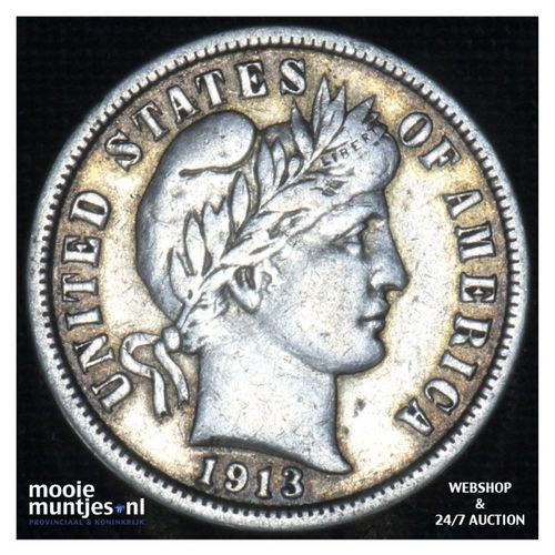 dime - barber - - United States of America 1913 (KM 113) (kant A)
