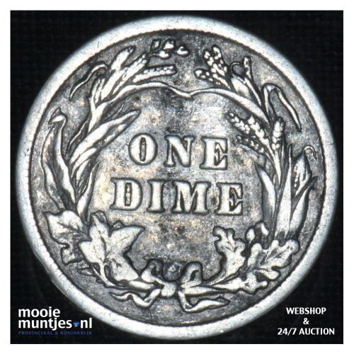 dime - barber - - United States of America 1916 (KM 113) (kant B)