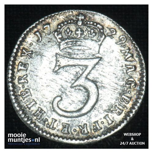 3 pence - Great Britain 1729 (KM 569) (kant A)