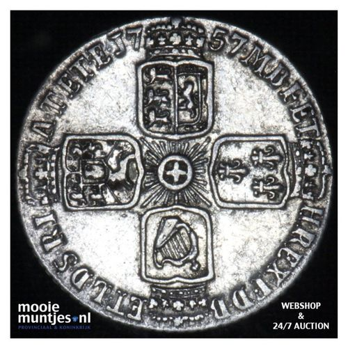 6 pence  - Great Britain 1757 (KM 582.2) (kant A)
