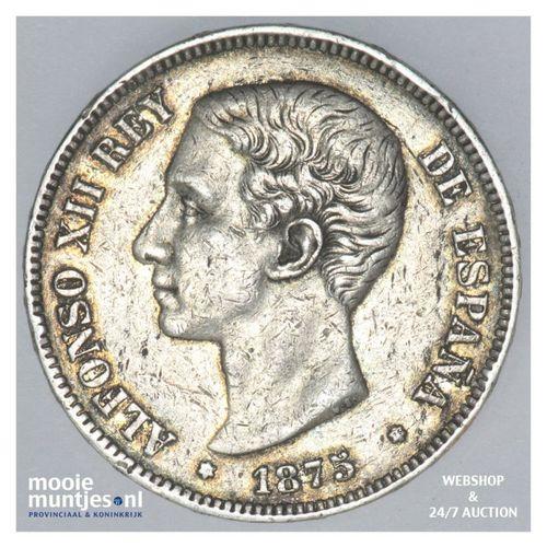 5 pesetas - third decimal coinage -  - Spain 1875 (75) DE-M (KM 671) (kant A)