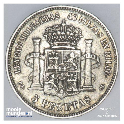 5 pesetas - third decimal coinage -  - Spain 1875 (75) DE-M (KM 671) (kant B)
