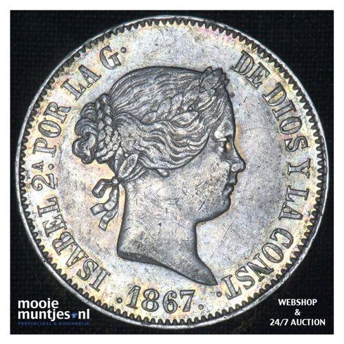 escudo - second decimal coinage - - Spain 1867 (KM 626.1) (kant A)