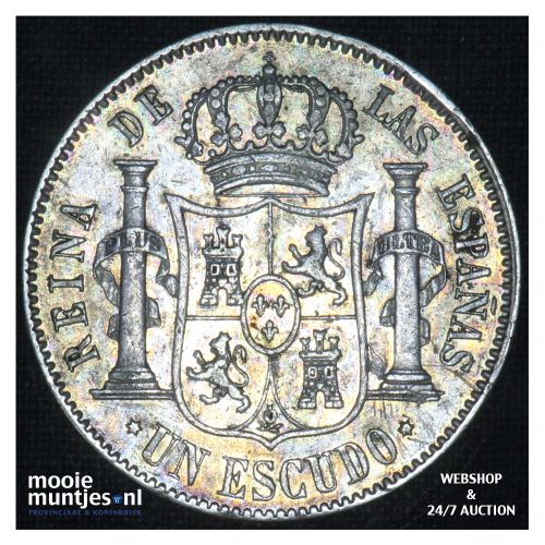 escudo - second decimal coinage - - Spain 1867 (KM 626.1) (kant B)