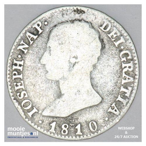 4 reales - de vellon coinage - - Spain 1810 AL (KM 540.1) (kant A)