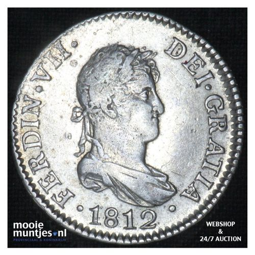 2 reales -  - Spain 1812 CI (KM 460.1) (kant A)