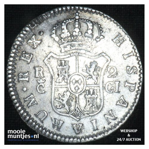 2 reales -  - Spain 1812 CI (KM 460.1) (kant B)