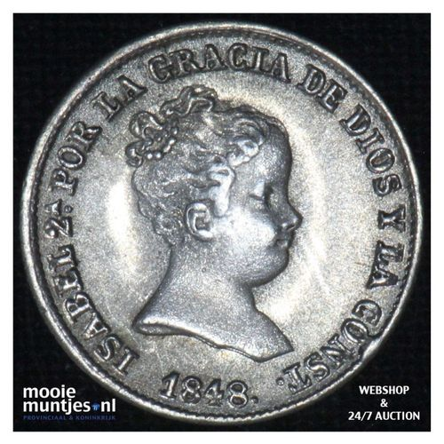 real (croat) -  - Spain 1848 CL (KM 518.1) (kant A)