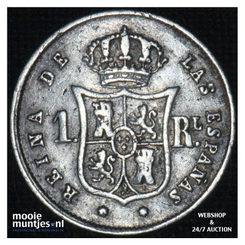 real - decimal coinage - - Spain 1853 (KM 598.3) (kant B)