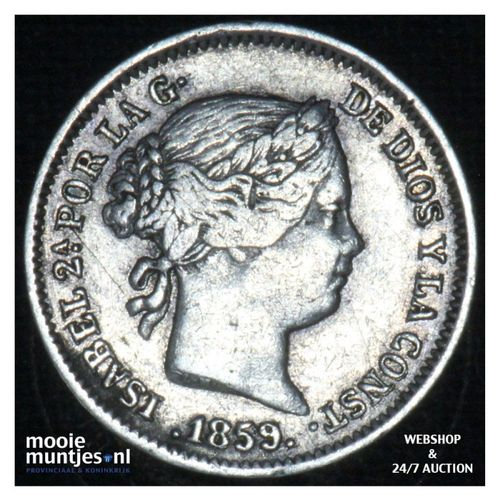 real - decimal coinage - - Spain 1859 (KM 606.2) (kant A)