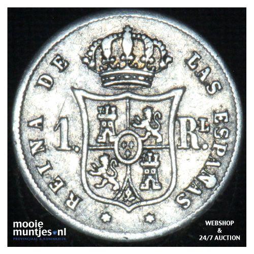 real - decimal coinage - - Spain 1859 (KM 606.2) (kant B)