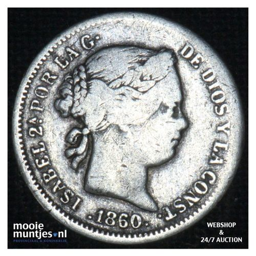 real - decimal coinage - - Spain 1860 (KM 606.2) (kant A)