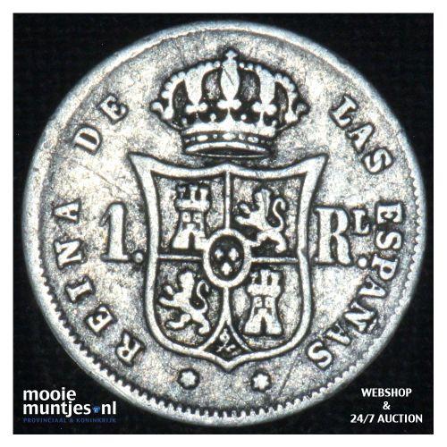 real - decimal coinage - - Spain 1860 (KM 606.2) (kant B)
