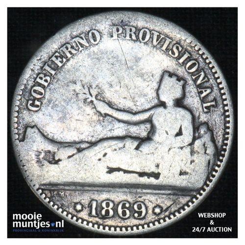 peseta - third decimal coinage -  - Spain 1869 SN-M (KM 653) (kant A)