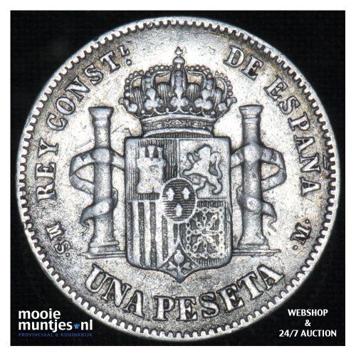 peseta - third decimal coinage -  - Spain 1883 (83) MS-M (KM 686) (kant B)