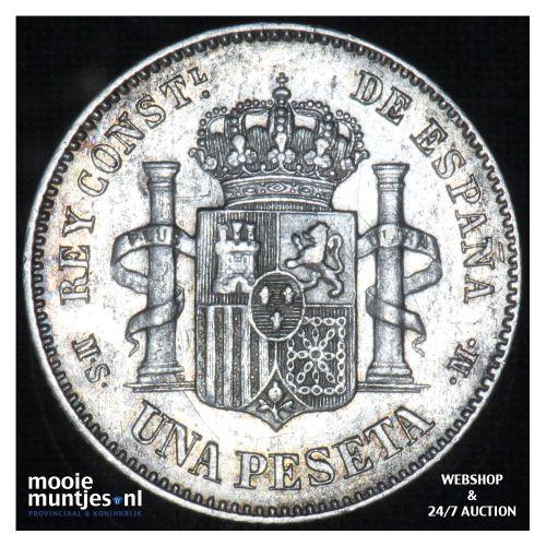 peseta - third decimal coinage -  - Spain 1885 (86) MS-M (KM 686) (kant B)