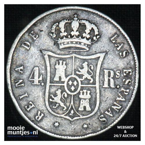 4 reales - decimal coinage - - Spain 1852 (KM 600.2) (kant B)
