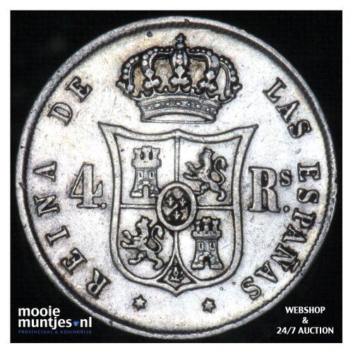 4 reales - decimal coinage - - Spain 1853 (KM 600.2) (kant B)