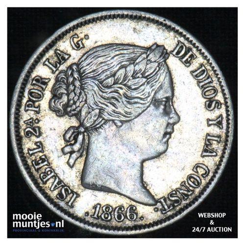 40 centimos - second decimal coinage - - Spain 1866 (KM 628.2) (kant A)