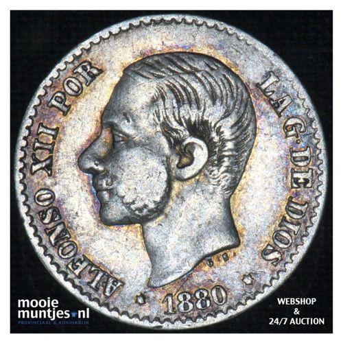 50 centimos - third decimal coinage -  - Spain 1880 (80) MS-M (KM 685) (kant A)