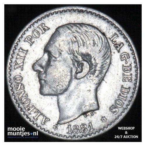50 centimos - third decimal coinage -  - Spain 1881 (81) MS-M (KM 685) (kant A)
