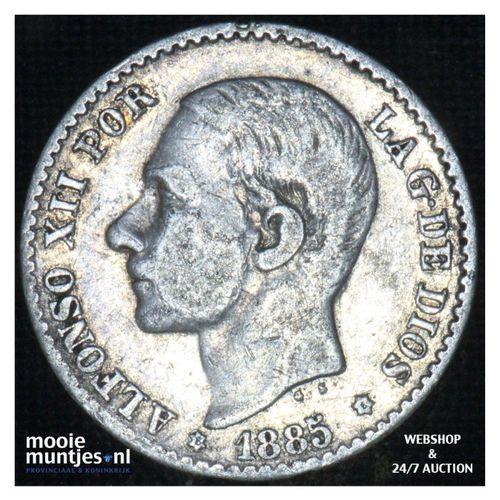 50 centimos - third decimal coinage -  - Spain 1885 (86) MS-M (KM 685) (kant A)