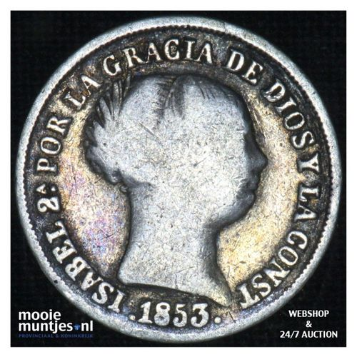 2 reales - decimal coinage - - Spain 1853 (KM 599.1) (kant A)