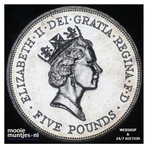 5 pounds - Great Britain 1990 (KM 962) (kant B)