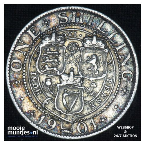 shilling - Great Britain 1901 (KM 780) (kant A)