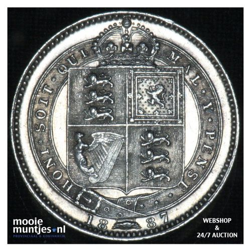 shilling - Great Britain 1887 (KM 761) (kant A)