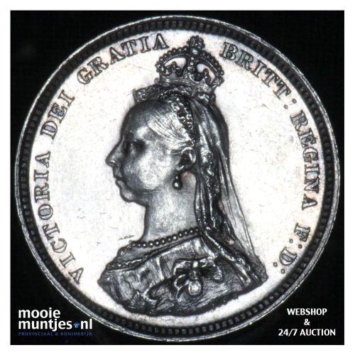 shilling - Great Britain 1887 (KM 761) (kant B)