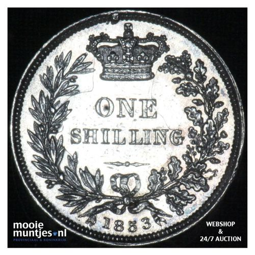 shilling - Great Britain 1753 (KM 743.1) (kant A)