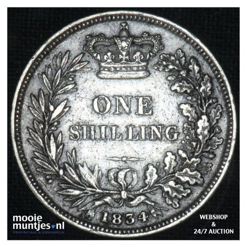 shilling - Great Britain 1834 (KM 713) (kant A)