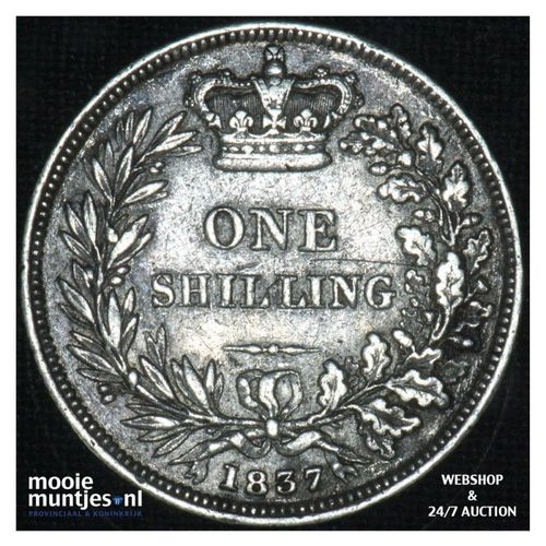 shilling - Great Britain 1837 (KM 713) (kant A)