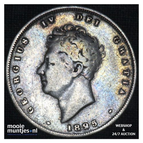 shilling - Great Britain 1825 (KM 694) (kant A)