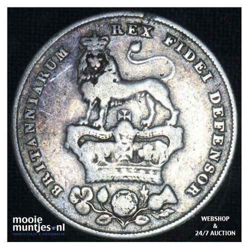 shilling - Great Britain 1825 (KM 694) (kant B)