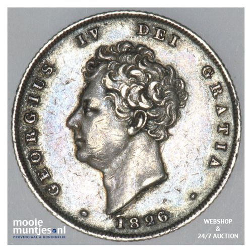 shilling - Great Britain 1826 (KM 694) (kant A)