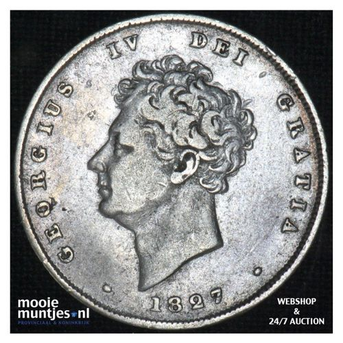 shilling - Great Britain 1827 (KM 694) (kant A)