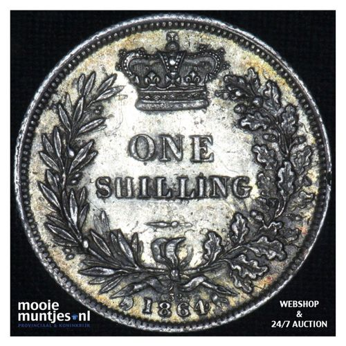 shilling - Great Britain 1864 (die# 32) (KM 743.3) (kant A)